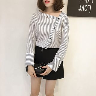 Image For Pinstriped Blouse