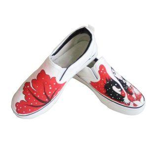 Printed Canvas Slip-Ons-image
