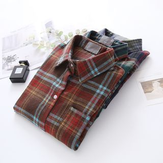 Long-sleeve   Plaid   Shirt