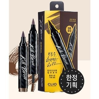 CLIO - Tinted Tattoo Kill Brow Set : Tinted Tattoo Kill Brow + Kill Brow Tinted Tattoo Pen (3 Colors) #03 Dark Brown 1058500123