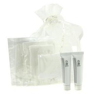 Kose - Shirosumi Set: 2x Shirosumi Whitening Essence 15ml/0.5oz + 6x Paper Mask 8pcs