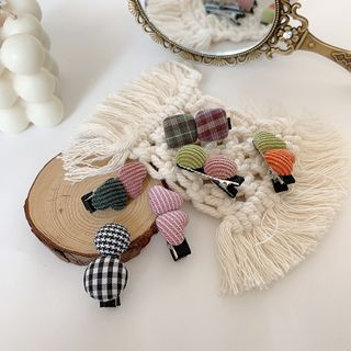 Image of Fabric Button Hair Clip