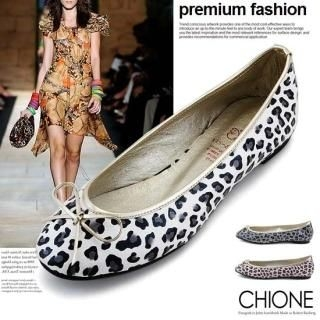Picture of Chione Animal Print Beribboned Flats 1022189841 (Flat Shoes, Chione Shoes, Korea Shoes, Womens Shoes, Womens Flat Shoes)