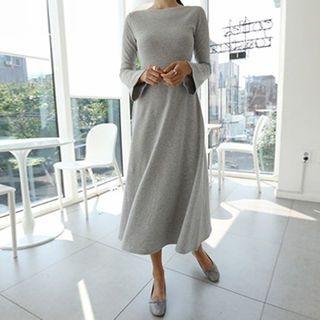 Round-Neck A-Line Midi Dress 1062055927