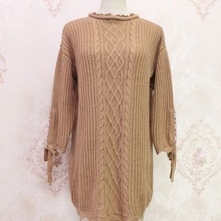 Ribbed Long-Sleeve Knit Top 1063797751