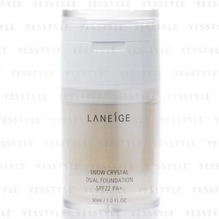 Buy Laneige – Snow Crystal Dual Foundation SPF 22 PA+ (#13 True Beige) 30ml/1oz