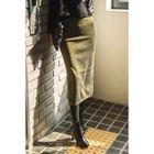 Band-Waist Glittered Long Skirt 1596