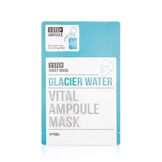 Image of APIEU - 2 Step Vital Ampoule Mask (Glacier Water) 1pc ampoule 2g + mask 25g
