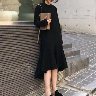 Dresses & Skirts Long-Sleeve Knit A-Line Midi Dress