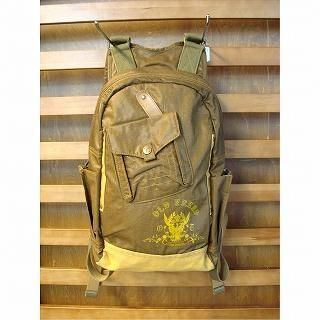 Picture of b3Labo Leather Trim Canvas Backpack Brown - One Size 1020612107 (b3Labo, Backpacks, Japan Bags, Mens Bags, Mens Backpacks)