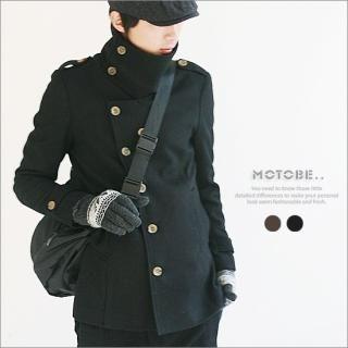 Picture of MOTOBE Funnel-Neck Wool Blend Jacket 1021636999 (MOTOBE, Mens Outerwear, Korea)