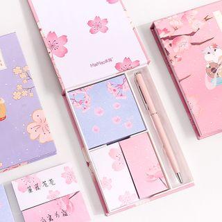 Set: Animal Print Sticky Note + Medium Notebook
