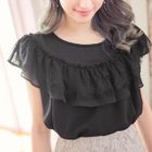 Short-Sleeve Lace-Trim Top 1596