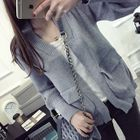 Open-Front Knit Cardigan 1596