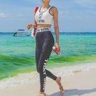 Set: Lettering Tankini Top + Swim Pants 1596
