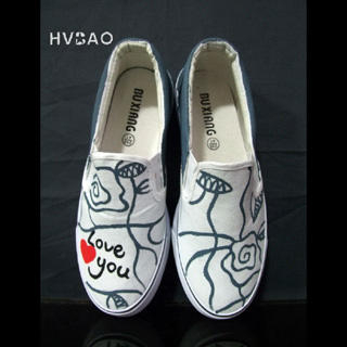 Buy HVBAO Love You Slip-Ons 1019659093