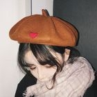 Heart Applique Beret 1596