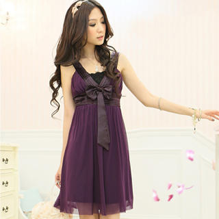 "Buy Tokyo Fashion Sleeveless ""Bow"" Chiffon Empire Dress 1022972776"