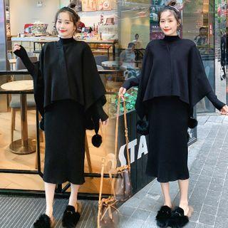 Maternity | Bobble | Black | Dress | Size | One | Set