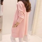 Open Front Long Cardigan 1596