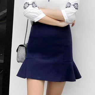 Ruffle Hem Mini Skirt 1057213424