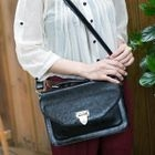 Faux-Leather Satchel Black - One Size