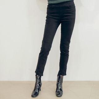 Elastic-Waist Slim-Fit Pants 1063675695