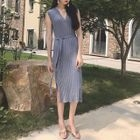 Ribbed Sleeveless Midi Knit Dress 1596