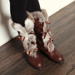 Buy Drama Fur Trim Boots 1022192593
