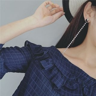 Metal Ball Drop Earrings 1060315455