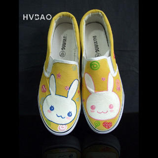 Picture of HVBAO Little Rabbits Slip-Ons 1019659034 (Slip-On Shoes, HVBAO Shoes, Taiwan Shoes, Womens Shoes, Womens Slip-On Shoes)