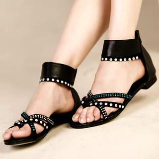 Buy Kvoll Rhinestone Ankle-Strap Sandals 1022979469