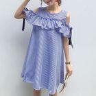Cutout Shoulder Ruffled Mini Dress 1596