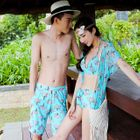 Couple Floral Bikini Set / Beach Shorts 1596