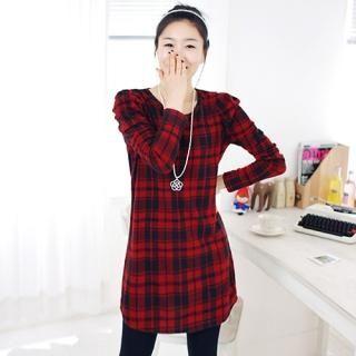 Buy Jessica Brook Round-Neck Check Dress 1022079793