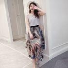 Set: Sleeveless Top + Patterned Maxi Dress 1596