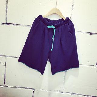 Drawstring Waist Denim Shorts 1050877159
