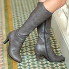 Zip-Detail Tall Boots