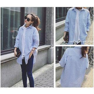 gingham-long-sleeve-blouse