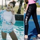 Set: Long-Sleeve Zip-Up Swim Top + Swim Shorts + Swim Pants 1596