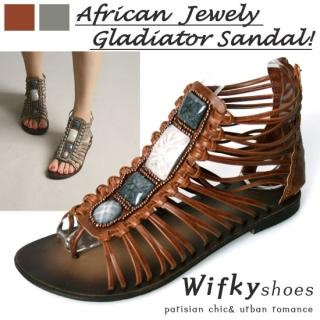 Picture of Wifky Beaded Gladiator Sandals 1022779506 (Sandals, Wifky Shoes, Korea Shoes, Womens Shoes, Womens Sandals)