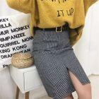 Tweed Pencil Skirt 1596