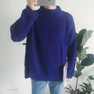 Ribbed Mock Neck Sweater 1054060710
