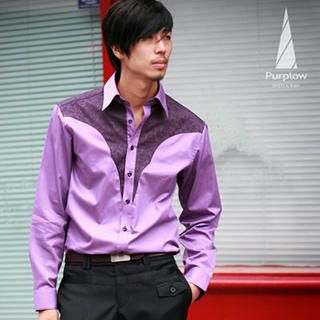 Buy Purplow Front Patched Long Sleeve in Violet 1004594738