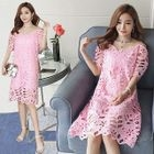 Maternity Lace Short-Sleeve Dress 1596