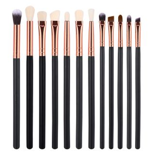 Image of Set of 12: Makeup Brush Set of 12 - Black - One Size
