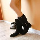 Buckled Mid-Calf Boots 1596