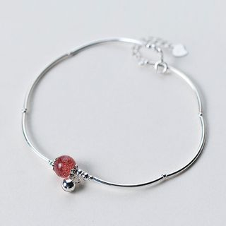 Image of 925 Sterling Silver Crystal Anklet
