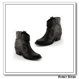 Picture of Pinky Rose Star Pattern Ankle Boots 1021689581 (Boots, Pinky Rose Shoes, Taiwan Shoes, Womens Shoes, Womens Boots)