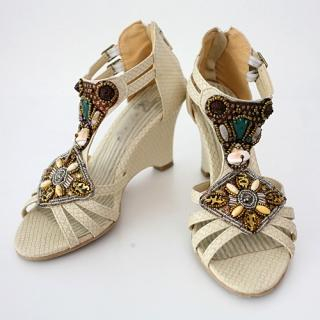 Picture of CLICK Embellished Wedge Sandals 1023031002 (Sandals, CLICK Shoes, Korea Shoes, Womens Shoes, Womens Sandals)